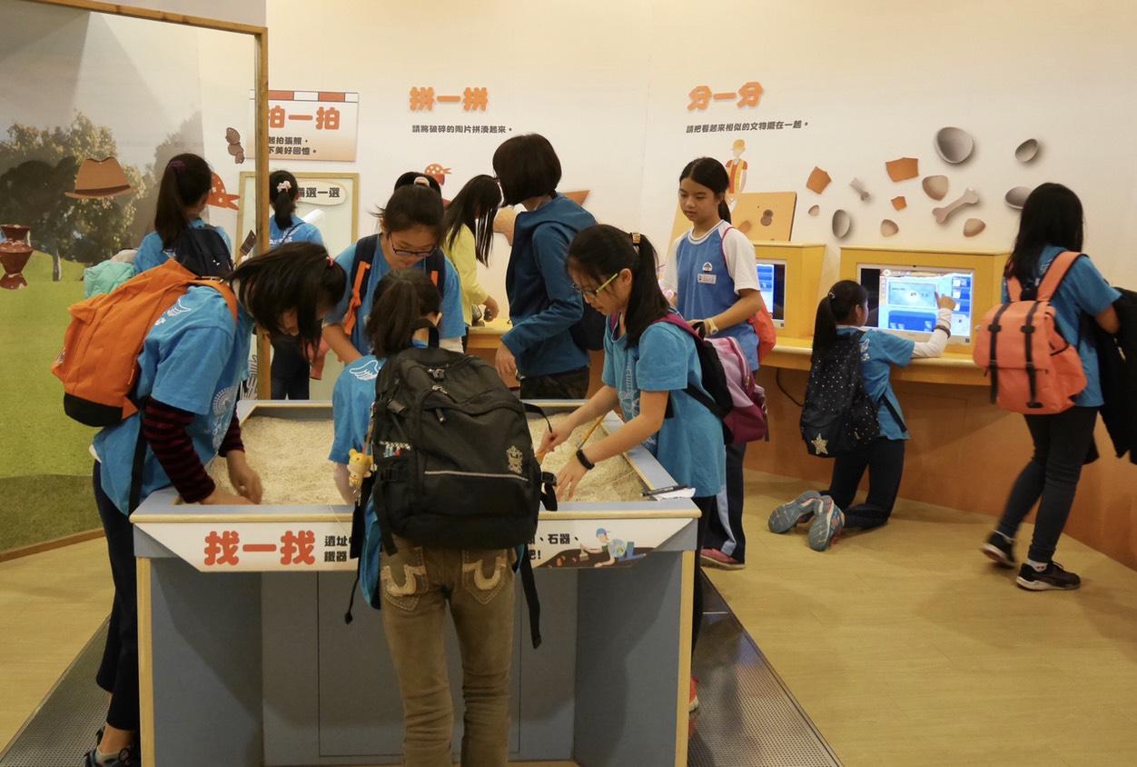 兒童考古體驗室(十三行博物館提供)